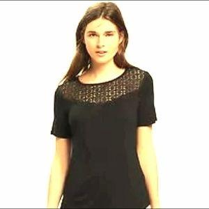 💖NWT beautiful high low black top!